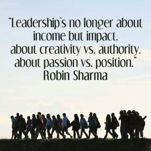 Leadership is not about Income