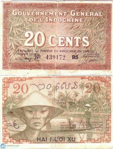Indochina Money 20 Sen