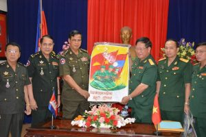 Arts Exchange Program between VN, Cambodia and Lao on theme of Military Cooperation. (Photo Courtesy monoroom.com dated October 25, 2017 or http://hrkhnews.com/?p=7419)
